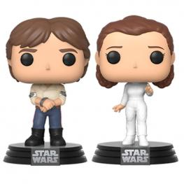 Set 2 Figuras Pop Star Wars Han & Leia