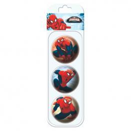 Blister Pelota Spiderman Marvel 3 Unidades 6Cm Surtido