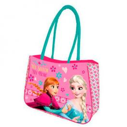 Bolsa Playa Frozen Disney Sisters Queens 50X34Cm