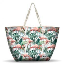 Bolsa Playa Oh My Pop Tropical Flamingo