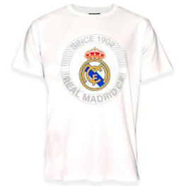 Camiseta Estampada Real Madrid Blanco Adulto