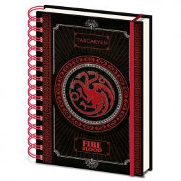 Cuaderno A5 Targayen Juego de Tronos