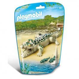 Caimán Con Bebés Playmobil