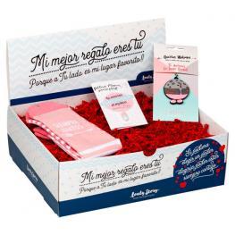 Caja Regalo Calcetines + Tarjeta + Llavero Luna