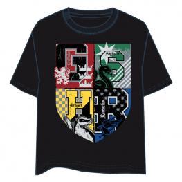 Camiseta Hogwarts Harry Potter Adulto Negro