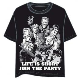 Camiseta Party Batman Dc Comics Adulto