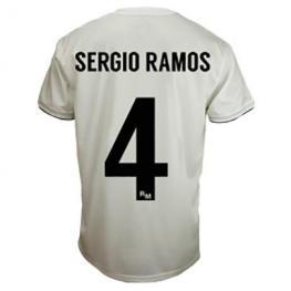 Camiseta Real Madrid Sergio Ramos Blanco Adulto