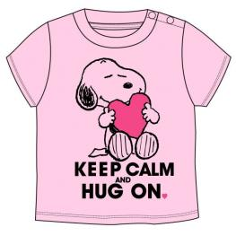 Camiseta Snoopy Rosa Bebe