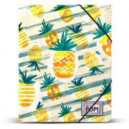 Carpeta Ananas Oh My Pop A4 Gomas