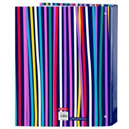 Carpeta Benetton Color Lines A4 Anillas Lomo Ancho