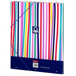 Carpeta Benetton Color Lines A4 Solapas