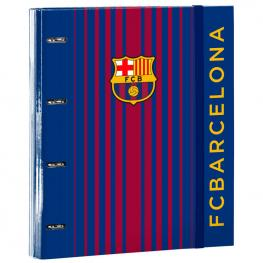 Carpeta F.C Barcelona A4 Anillas Gomas Separadores