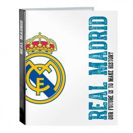 Carpeta Real Madrid A4 Anillas Lomo Ancho