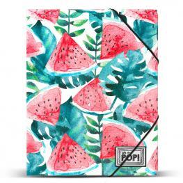 Carpeta Watermelon Oh My Pop A4 Gomas