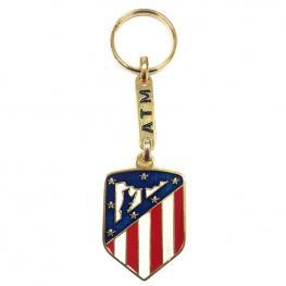 Llavero Escudo Atletico de Madrid Dorado