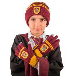 Set Gorro + Guantes Gryffindor Harry Potter Infantil