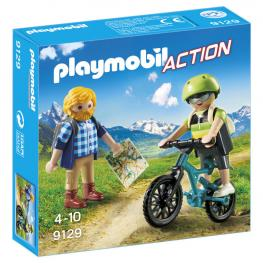 Ciclista y Excursionista Playmobil Action