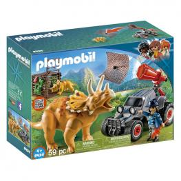 Coche Con Triceratops Playmobil The Explorers