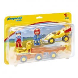 Coche de Carreras Con Camion Playmobil 1.2.3