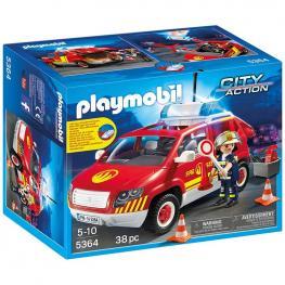 Coche Jefe Bomberos Playmobil City Action Luces Sonido