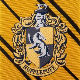 Corbata Hufflepuff Harry Potter Logo Tejido