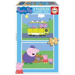 Puzzle Peppa Pig Madera 2X9Pz