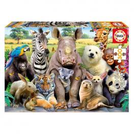Puzzle Animales Foto de Clase 300Pz