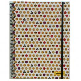 Cuaderno A5 Emoticonworld Mosaico Blanca Banda Elastica