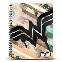 Cuaderno A5 Wonder Woman Dc Comics Collage