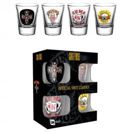 Set 4 Vasos Chupito Guns N Roses