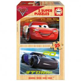 Puzzle Cars Disney Madera 2X50Pz