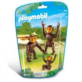 Familia de Chimpances Playmobil