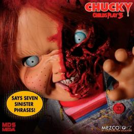 Figura Articulada Chucky Cara Pizza Chucky el Muñeco Diabolico 3 38Cm