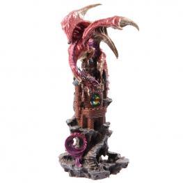 Figura Dragon Leyenda Oscura Sobre Castillo