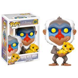Figura Pop Disney el Rey Leon Rafiki Con Simba