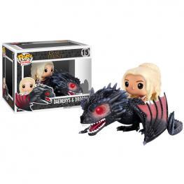 Figura Pop Game Of Thrones Daenerys & Drogon 18Cm