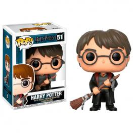 Figura Pop Harry Potter Harry With Firebolt & Feather Exclusive