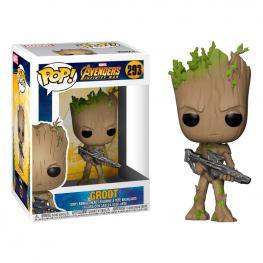 Figura Pop Marvel Avengers Infinity War Teen Groot With Gun