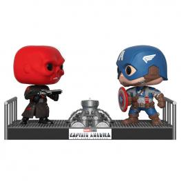 Figura Pop Marvel Captain America Vs Red Skull