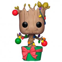 Figura Pop Marvel Holiday Groot With Lights & Ornaments