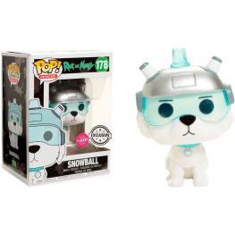 Figura Pop Rick & Morty Snowball Flocked Exclusive