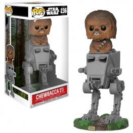 Figura Pop Star Wars At-St With Chewbacca