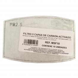 Filtro Mascarilla 5 Capas de Carbon Activado