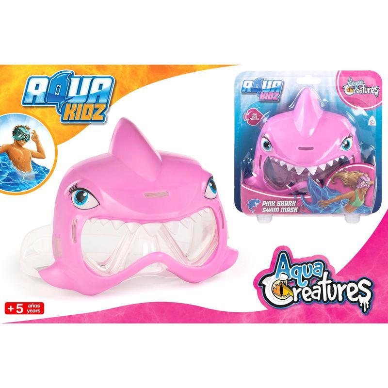 Gafas Bucear Tuburon Rosa Aqua Kidz Mascara