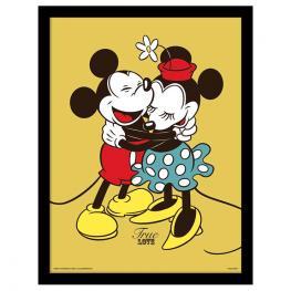 Cuadro Mickey Minnie Love Disney