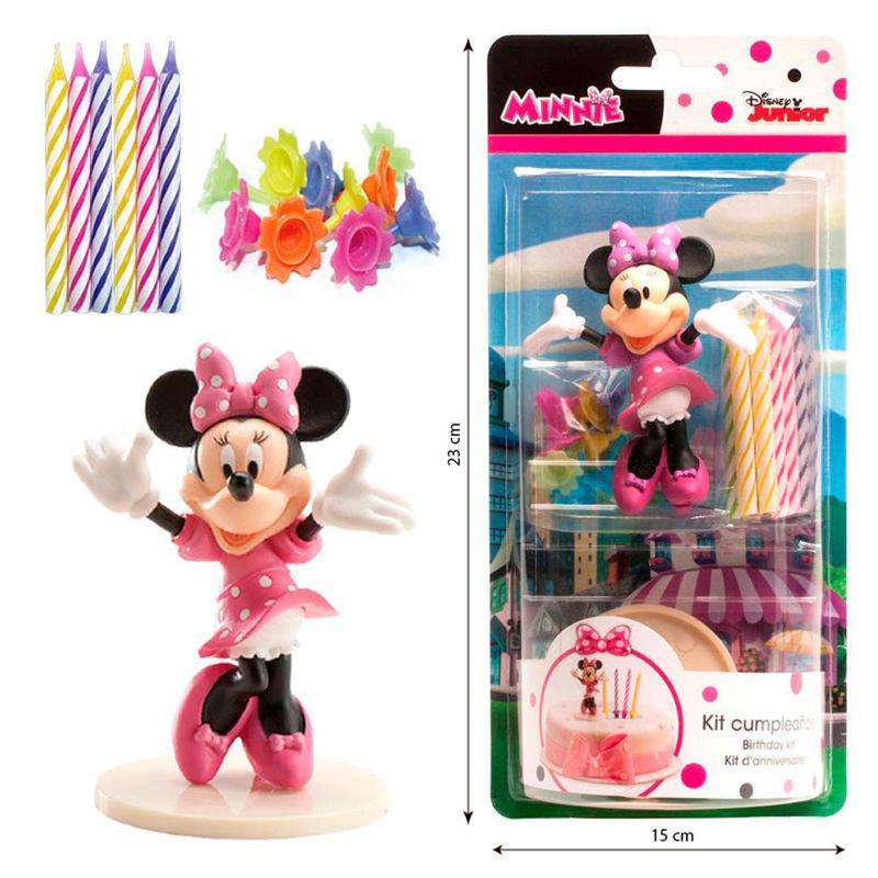 Kit Decoracion Tartas Minnie Disney Velas