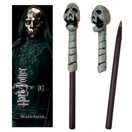 Varita Boligrafo y Marcapaginas Death Eater Skull Harry Potter