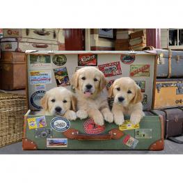 Puzzle Cachorros En el Equipaje 500Pzs
