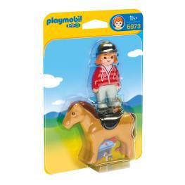 Jinete Con Caballo Playmobil 1.2.3