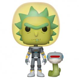 Figura Pop Rick & Morty Space Suit Rick With Snake